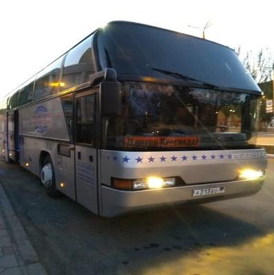 1. рейс Донецк - Краснодар 19:00 ПО НЕЧЕТНЫМ  ( АВТОБУС Wi-fi, напитки)